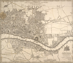 A NEW PLAN of the CITY of LONDON and BOROUGH OF SOUTHWARK, Exhibiting all the New Streets & Roads &c. Not extant in any other Plan.